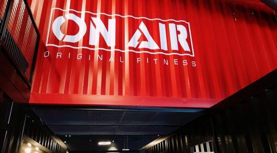 Style industriel pour la salle de Fitness ON AIR de Carré Sénart