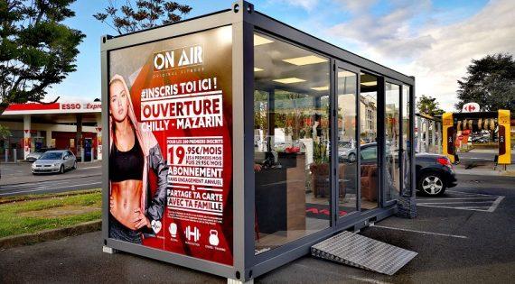 Bulle de vente On Air installée à Chilly-Mazarin – avril 2019
