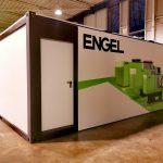 Extérieur de la salle de formation modulaire en containers