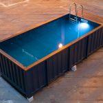 Vue d'ensemble de la piscine container Dieuzy