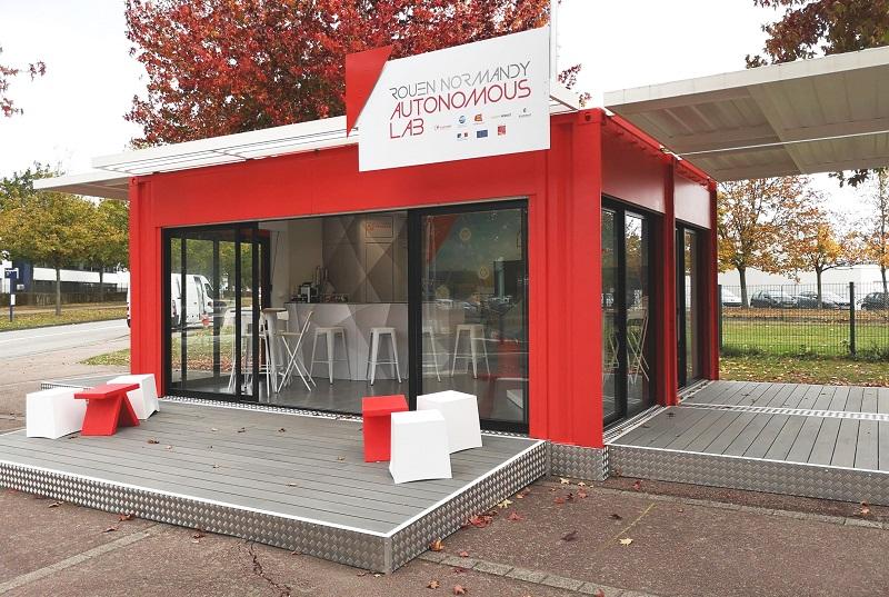 Un showroom semi-permanent pour Transdev à Rouen