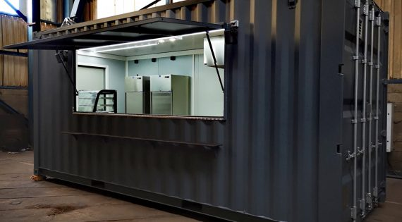 Transformation de container pour restaurant